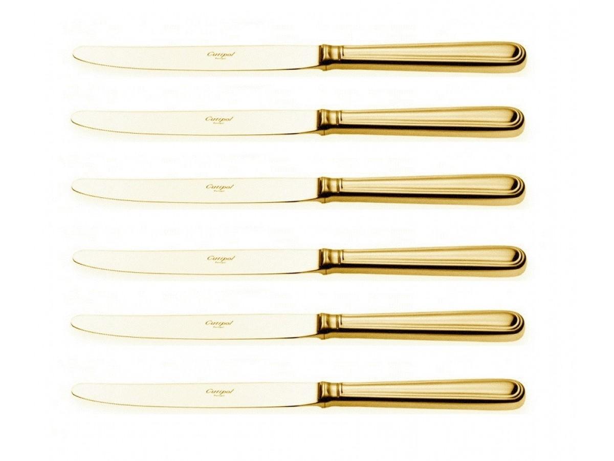 Cutipol Sevigne Gold Набор ножей столовых 6 шт (P3.03 G)
