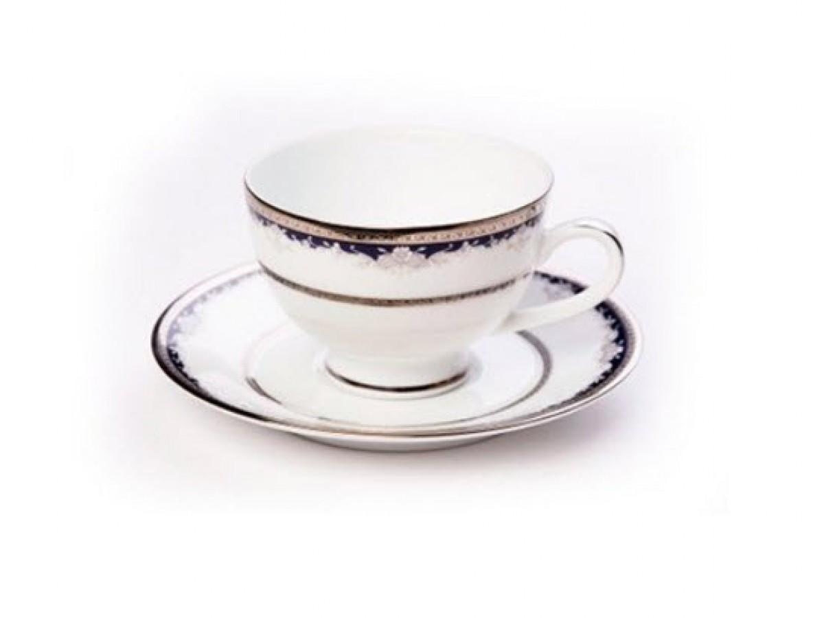 DPL Cler Platina Чашка чайная с блюдцем 200 мл