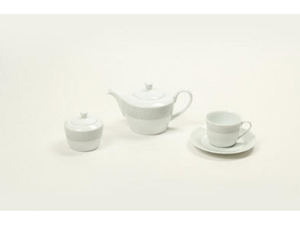 DPL Sheided Grey Poise Набор чайный на 6 персон (16пр.)