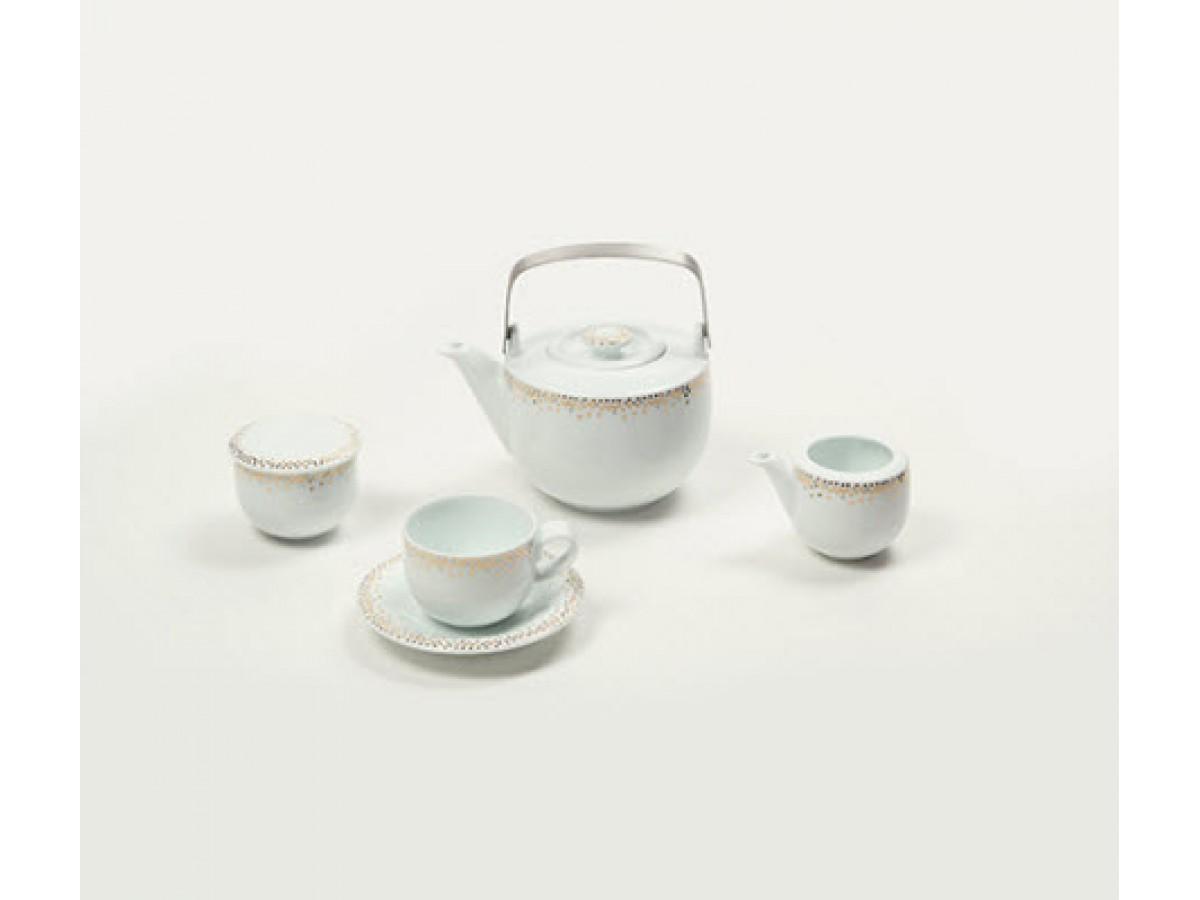DPL Miks Dots Gold Набор чайный на 6 персон