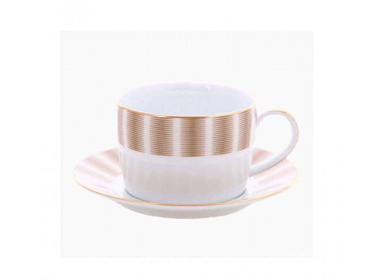 DPL Karina Brown Чашка для завтрака с блюдцем 360 мл