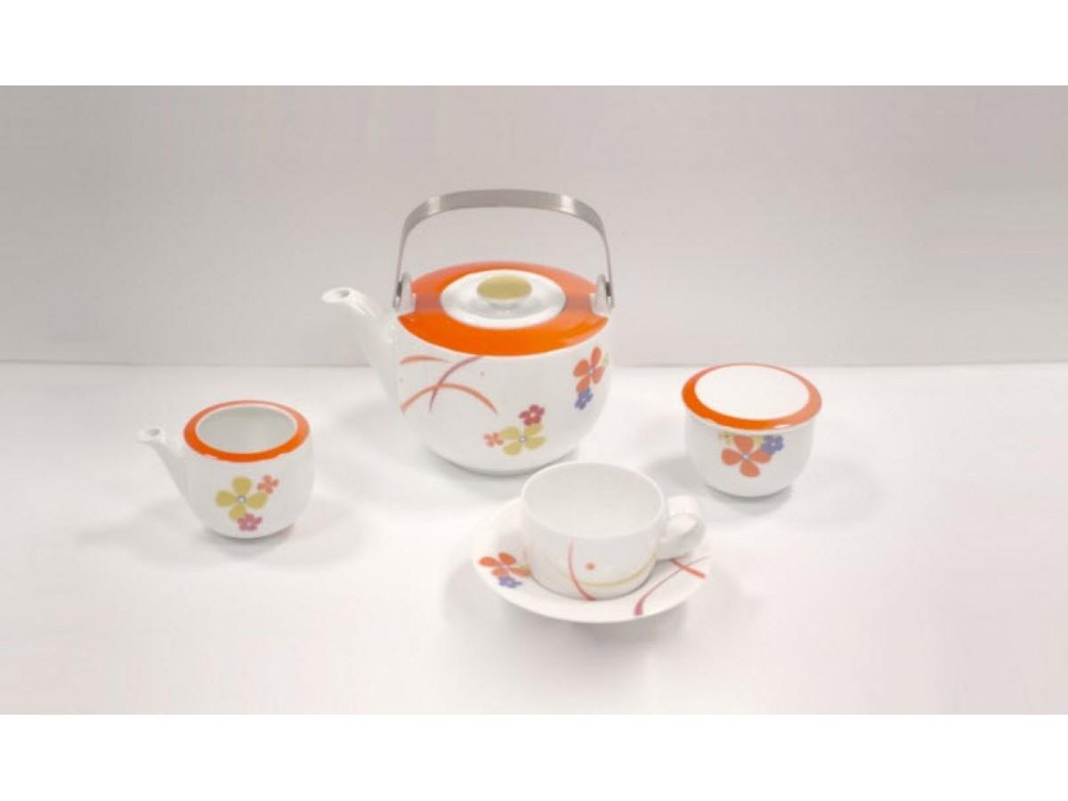 DPL Spin Flower Orange Набор чайный на 6 персон