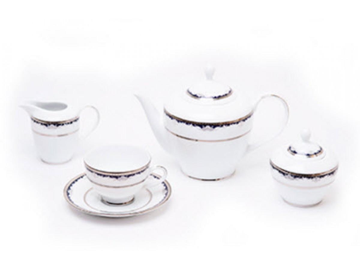 DPL Cler Platina Набор чайный на 6 персон (17пр.)