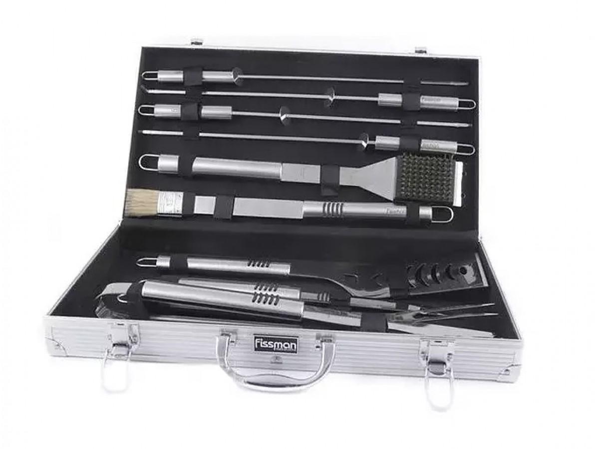 Fissman Набор инструментов для барбекю 10 предметов в чемодане