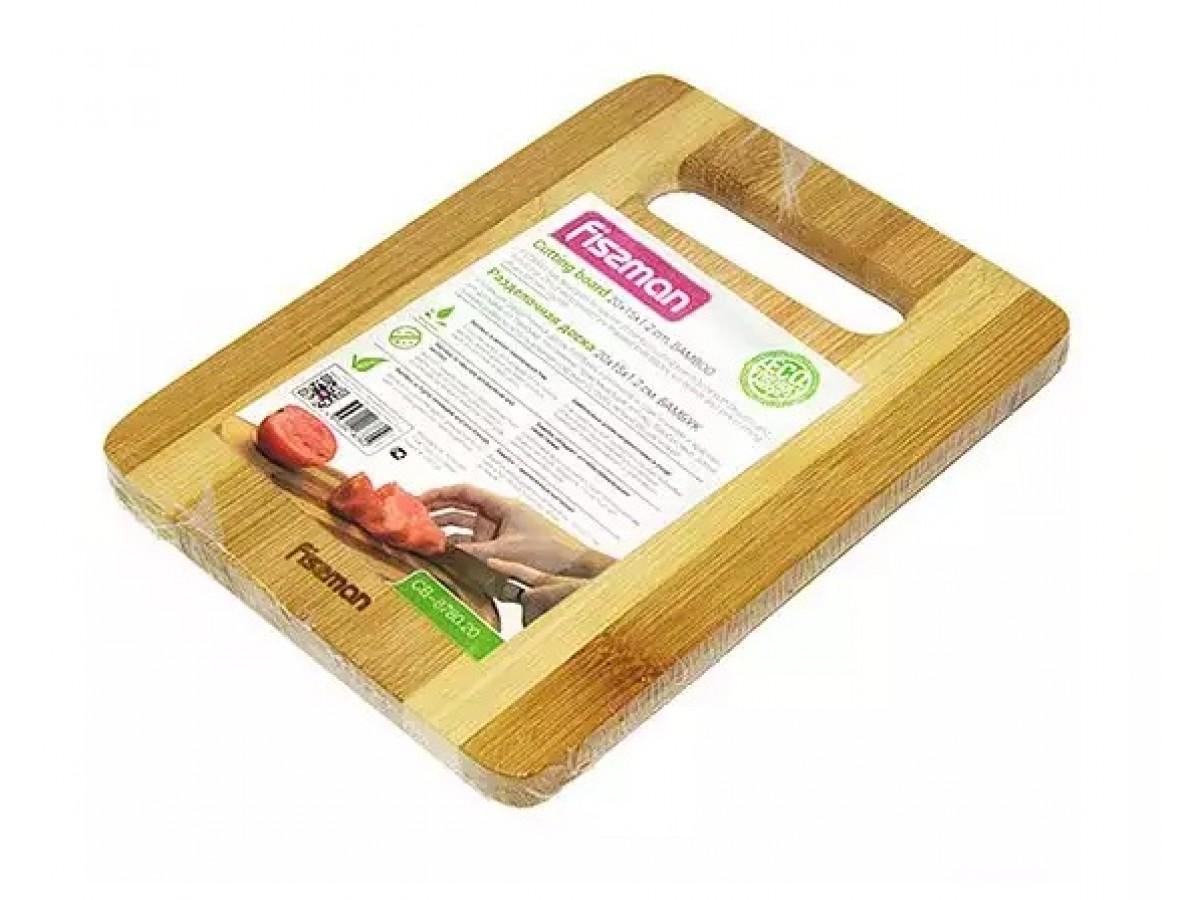 Fissman Доска разделочная бамбуковая 20*15*1,2 см
