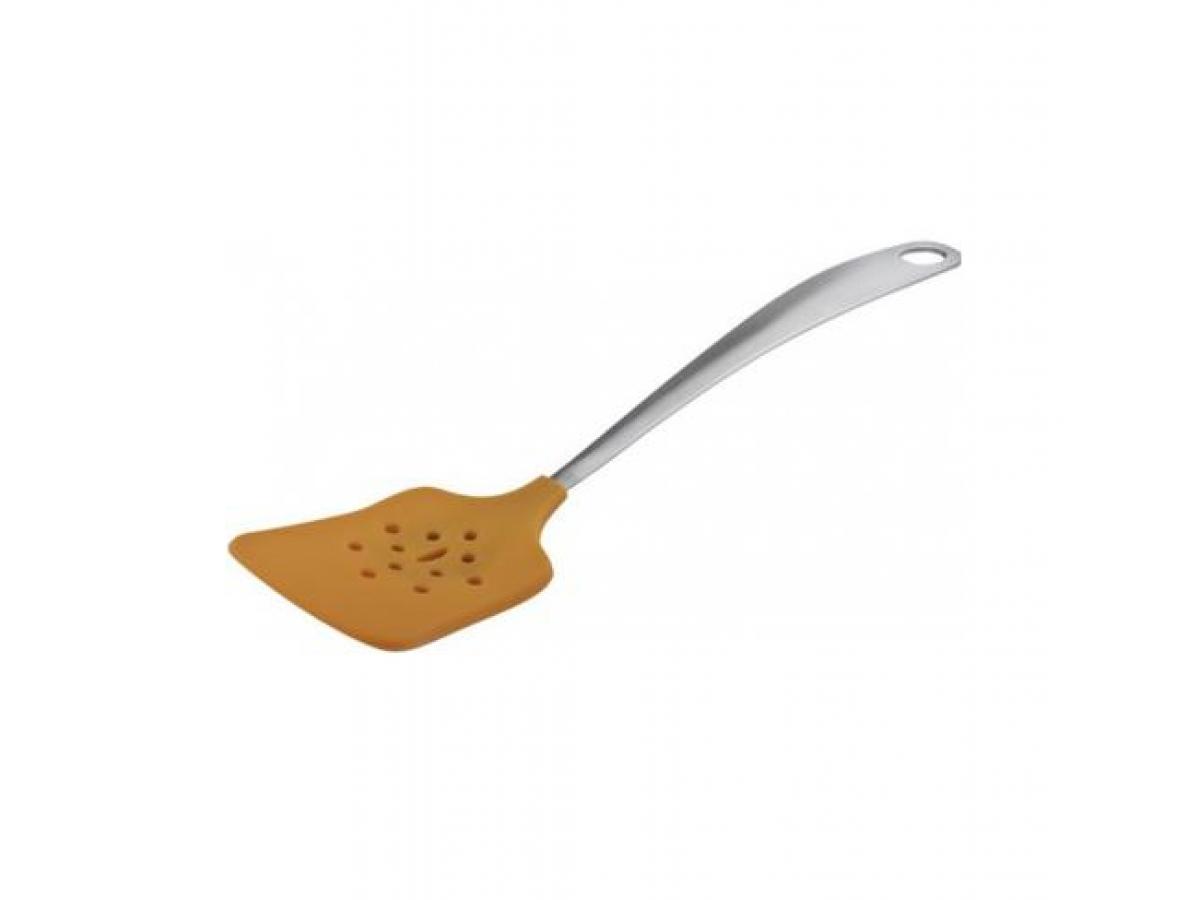 Granchio Лопатка силиконовая с прорезями 30 см (88422)