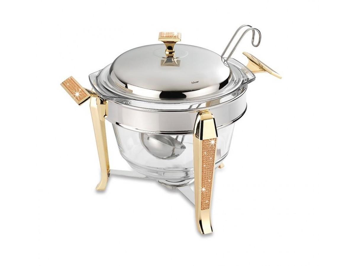 HISAR Mercury Gold Супница-мармит с половником