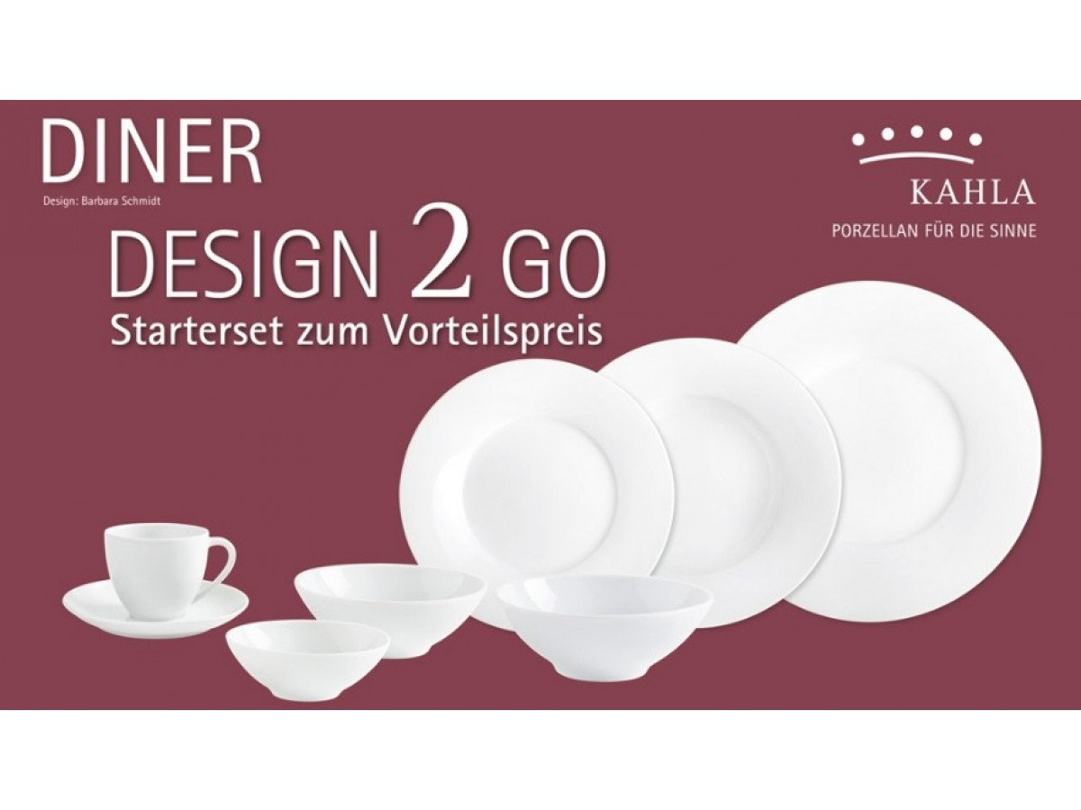 Kahla Diner 2 Go Set White Сервиз столовый 14 предметов  (55E196A90055C)