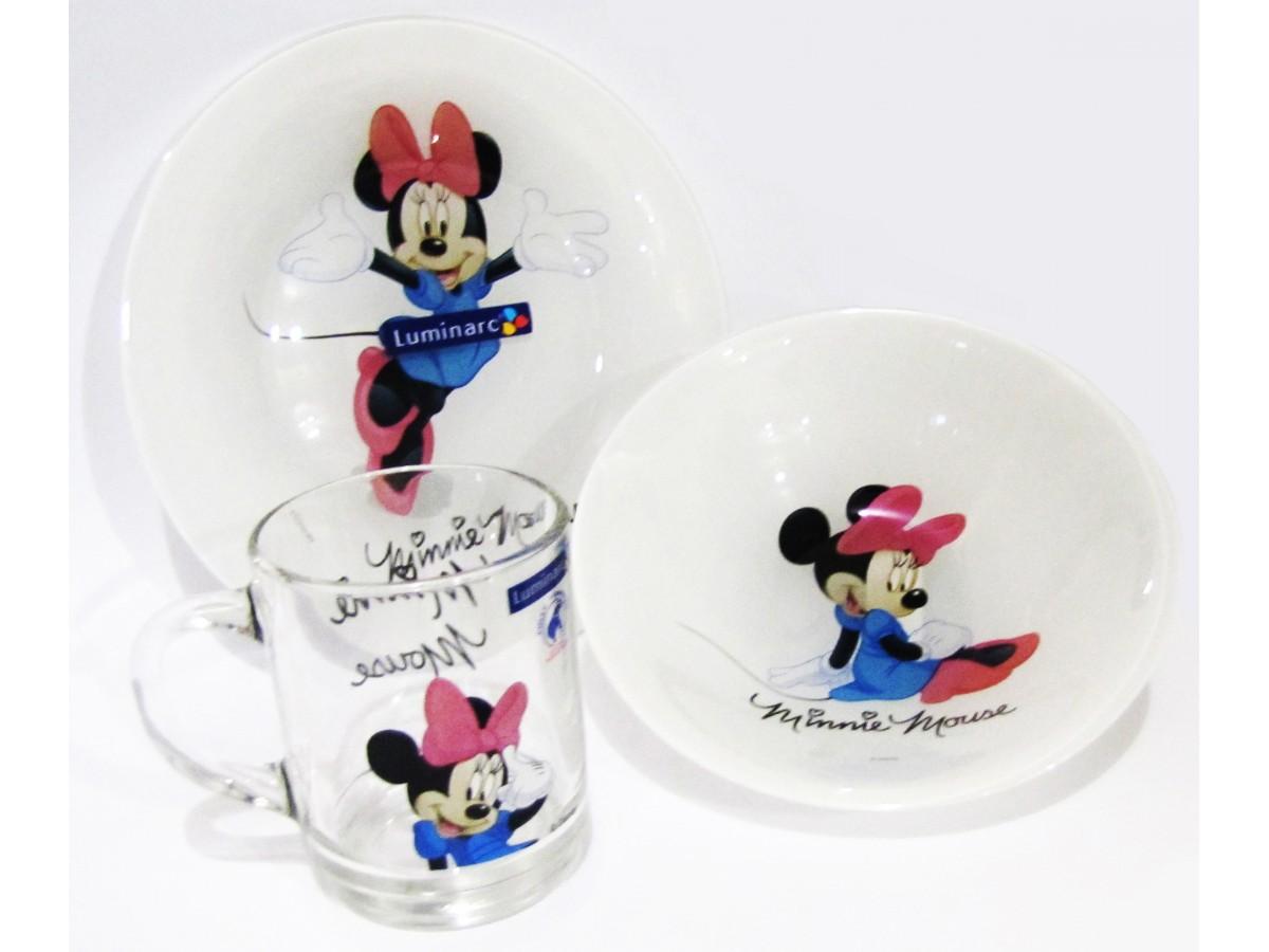 Luminarc Disney Colors Minnie Сервиз детский 3 предмета (H5321)