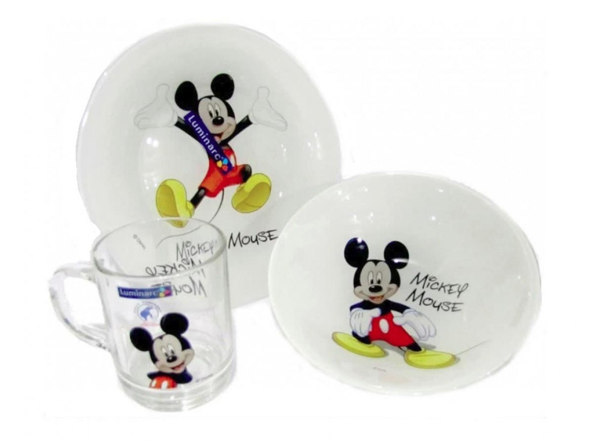 Luminarc Disney Colors Mickey Сервиз детский 3 предмета (L2124)