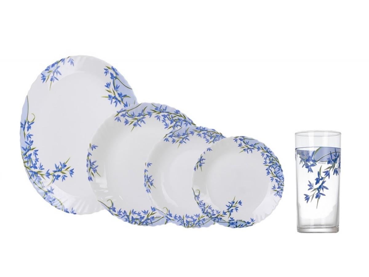 Arcopal Aliya Blue Сервиз столовый 25 предметов