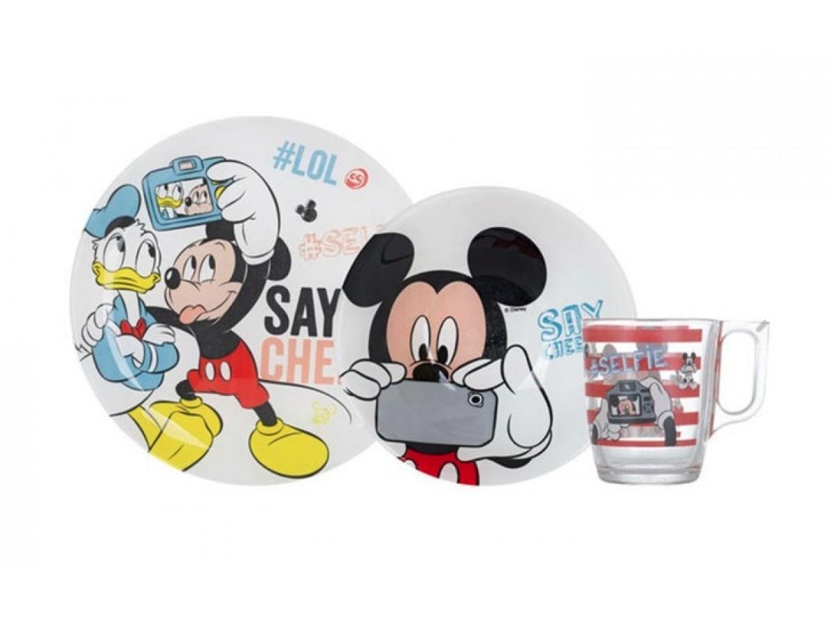 Luminarc Disney Party Mickey Сервиз детский 3 предмета