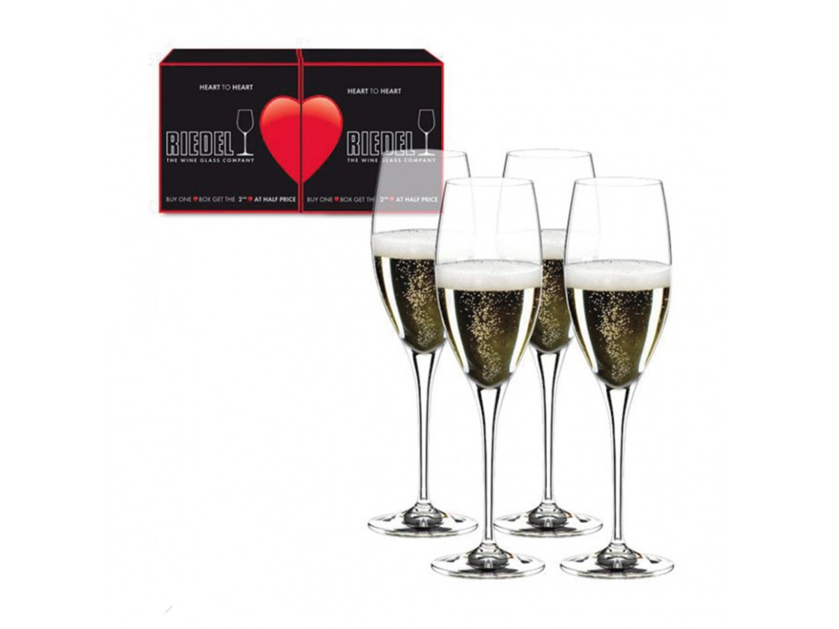 Riedel Heart To Heart Набор бокалов для шампанского 4*330 мл