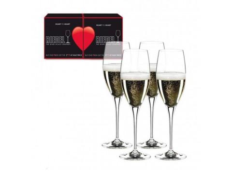 Riedel Heart To Heart Набор бокалов для шампанского 4*330 мл (5409/08)
