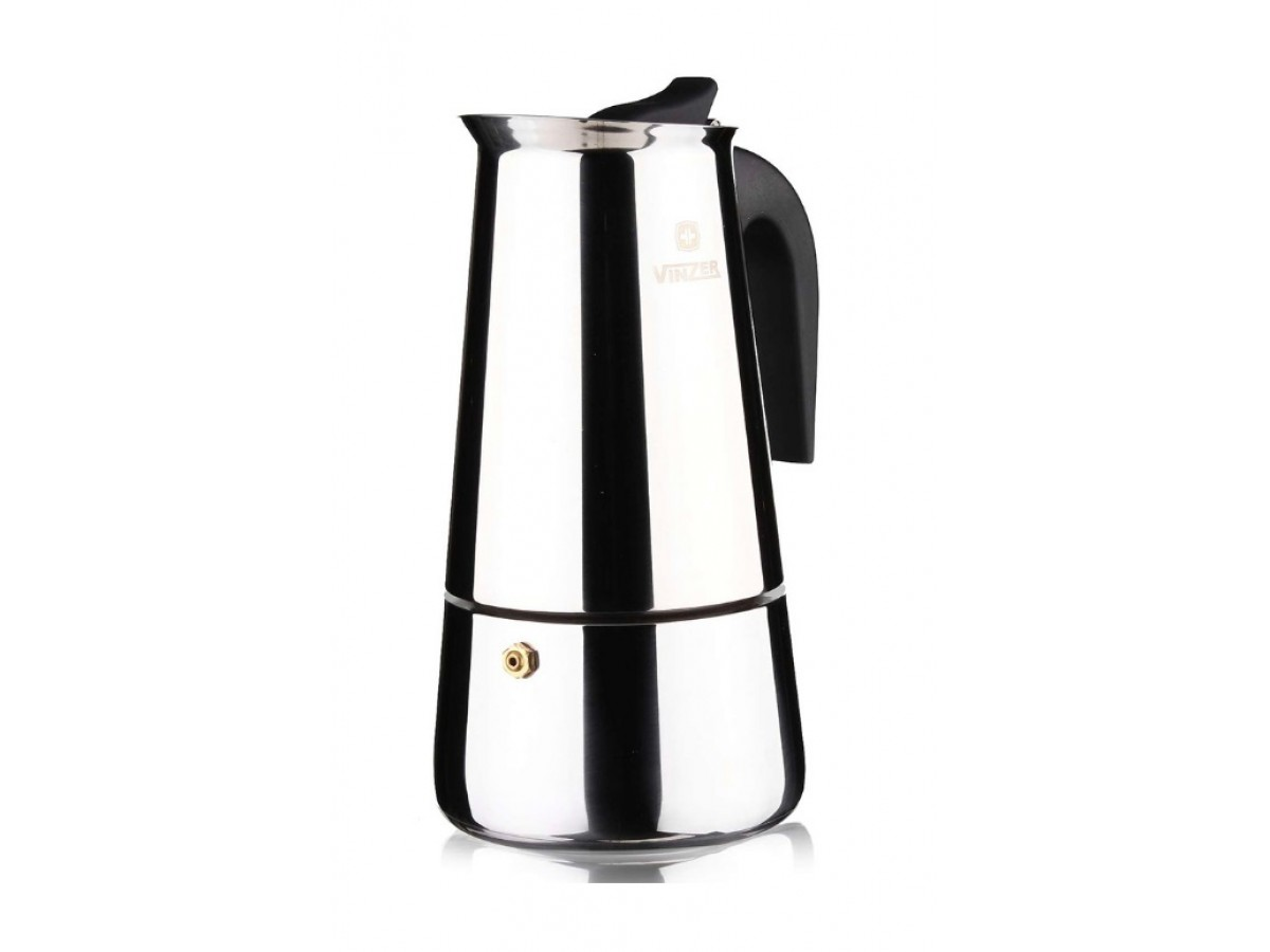 VINZER Кофеварка гейзерная на 4 чашки